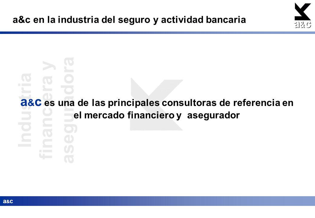 Industria financiera y aseguradora a&ca&c a&c en la industria del seguro y actividad bancaria a & c es una de las principales consultoras de referenci