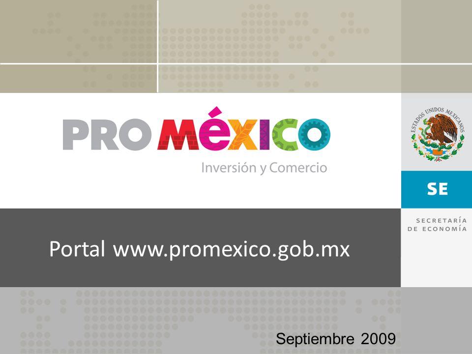 Portal www.promexico.gob.mx Septiembre 2009