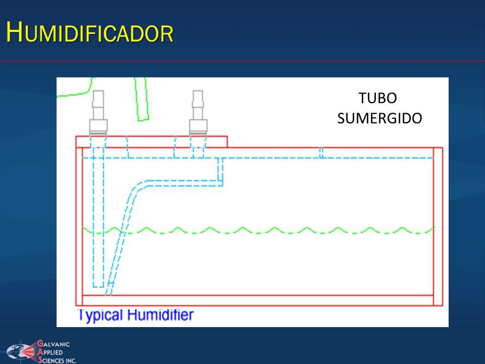 H UMIDIFICADOR TUBO SUMERGIDO