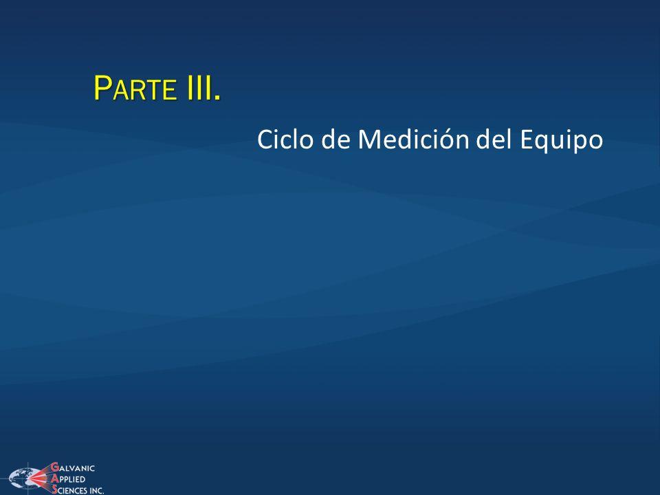 P ARTE III. Ciclo de Medición del Equipo