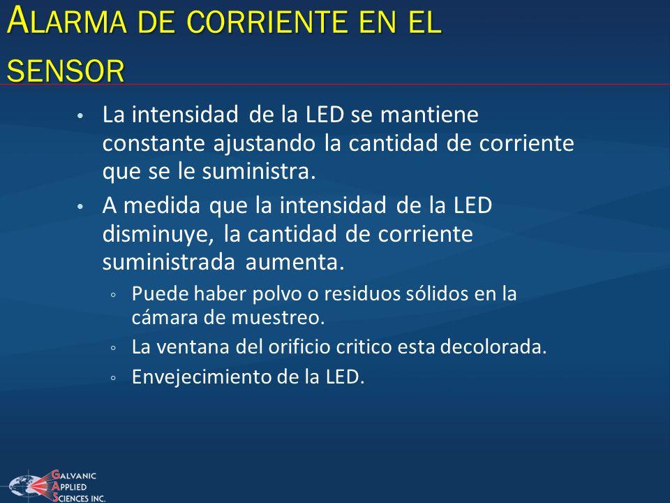 La intensidad de la LED se mantiene constante ajustando la cantidad de corriente que se le suministra. A medida que la intensidad de la LED disminuye,