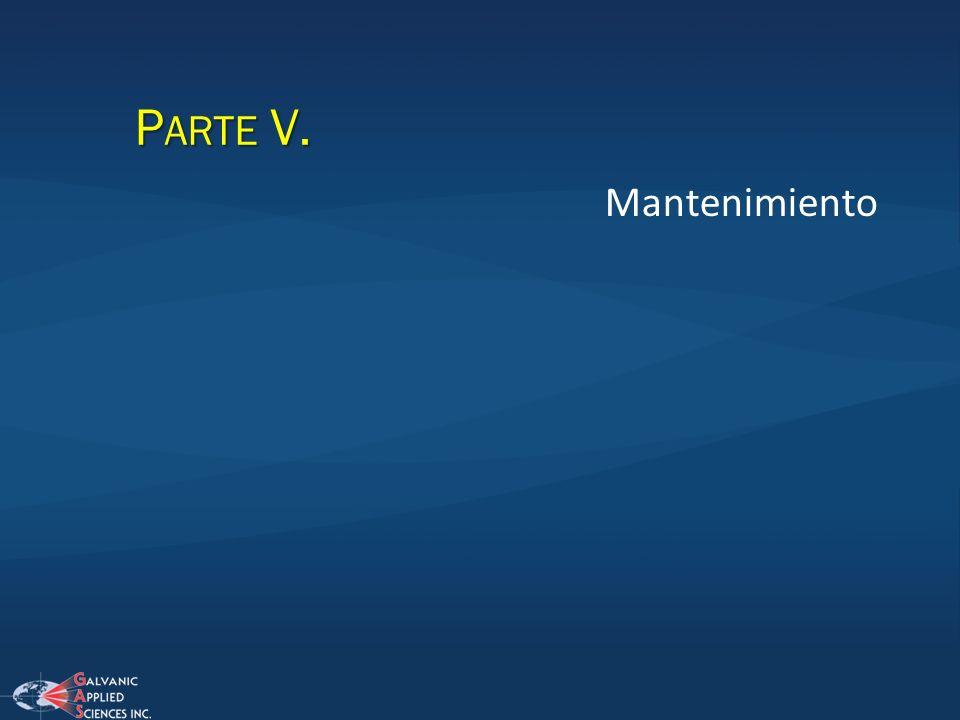 P ARTE V. Mantenimiento