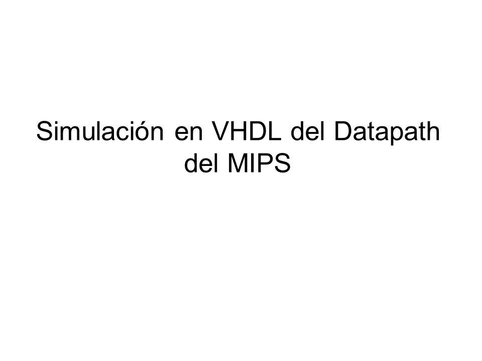 Descripción Implementar una versión simplificada del datapath del MIPS que soporte instrucciones R-Type.