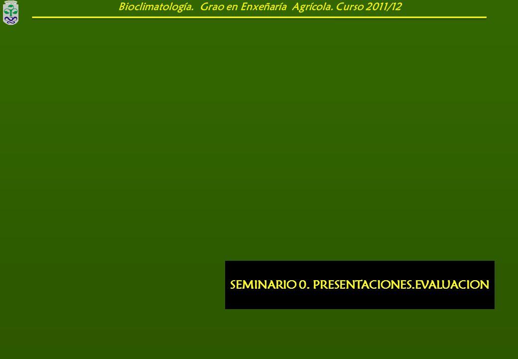 SEMINARIO 0. PRESENTACIONES.EVALUACION