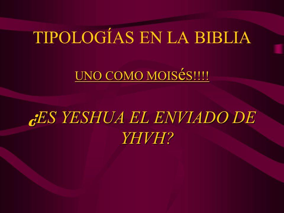 TIPOLOGÍAS EN LA BIBLIA UNO COMO MOIS é S!!!! ¿ ES YESHUA EL ENVIADO DE YHVH?