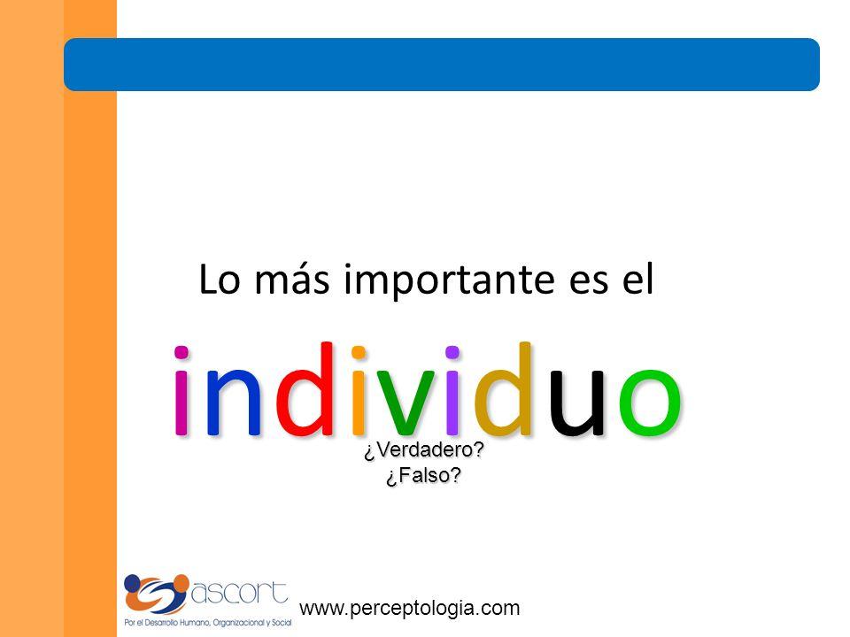 www.perceptologia.com El buen equipo es el sustento de la empresa. ¿Verdadero ¿Falso
