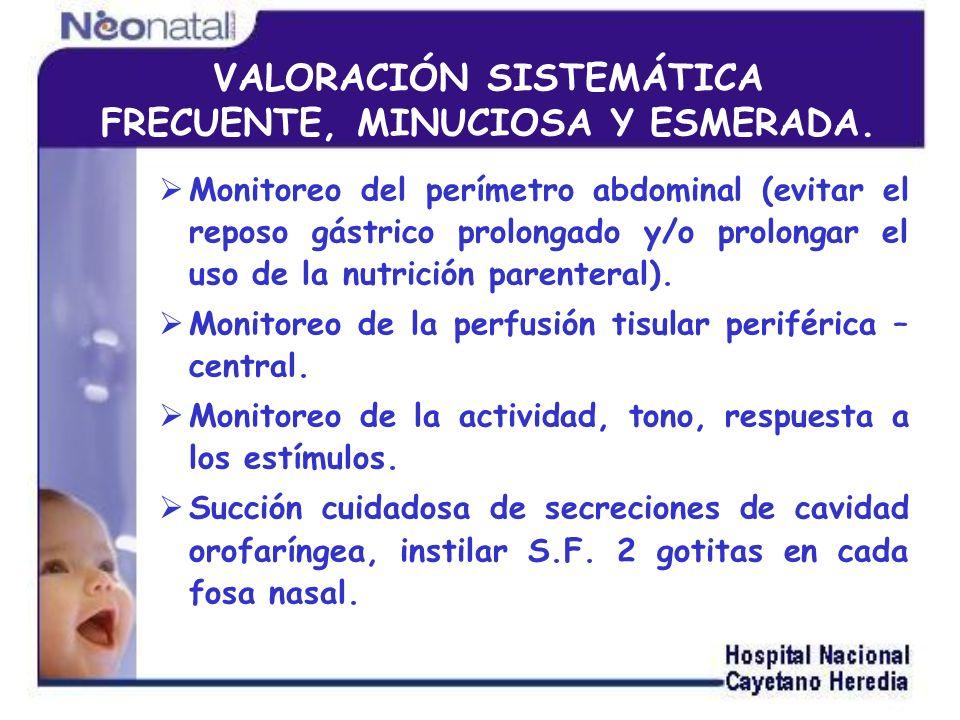 Mantener la integridad del septum nasal y posición de las cánulas nasales (prong).