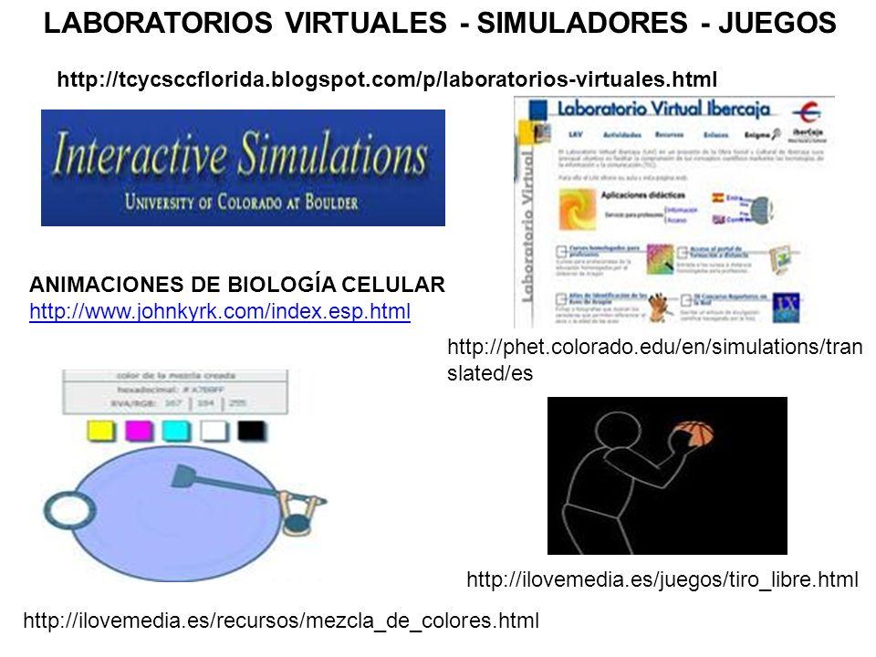 http://ilovemedia.es/juegos/tiro_libre.html http://ilovemedia.es/recursos/mezcla_de_colores.html http://phet.colorado.edu/en/simulations/tran slated/e