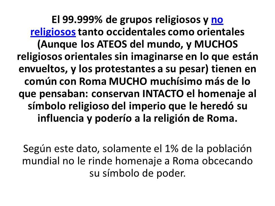 El 99.999% de grupos religiosos y no religiosos tanto occidentales como orientales (Aunque los ATEOS del mundo, y MUCHOS religiosos orientales sin ima