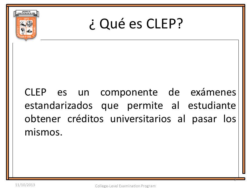 ¿ Qué es CLEP.