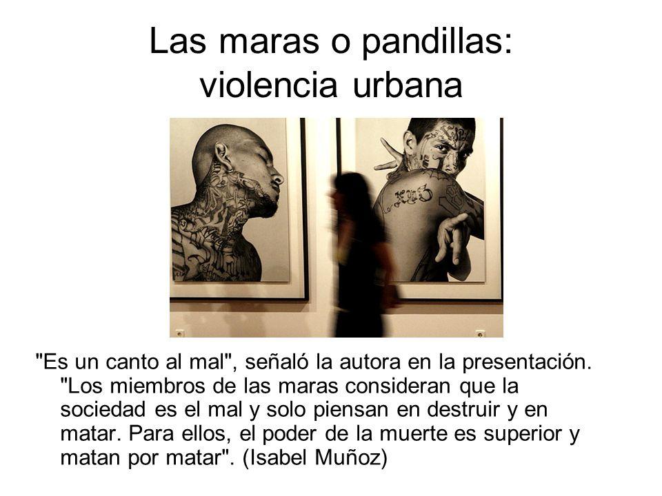 Las maras o pandillas: violencia urbana