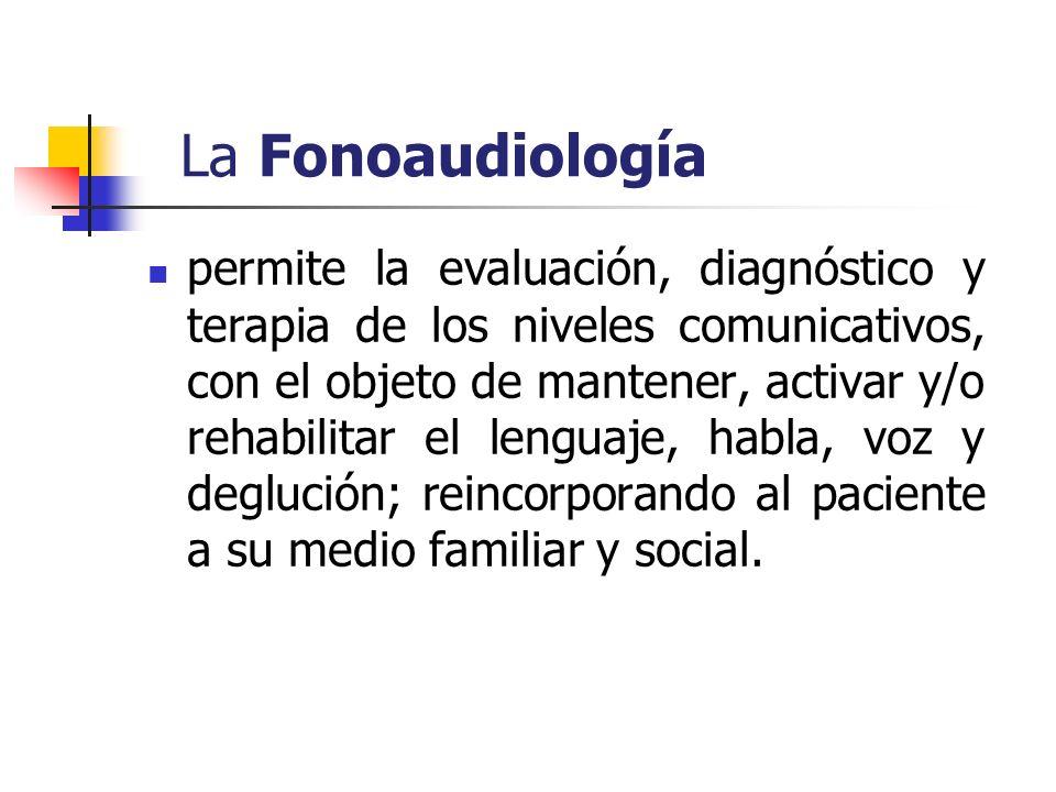 La Fonoaudiología permite la evaluación, diagnóstico y terapia de los niveles comunicativos, con el objeto de mantener, activar y/o rehabilitar el len