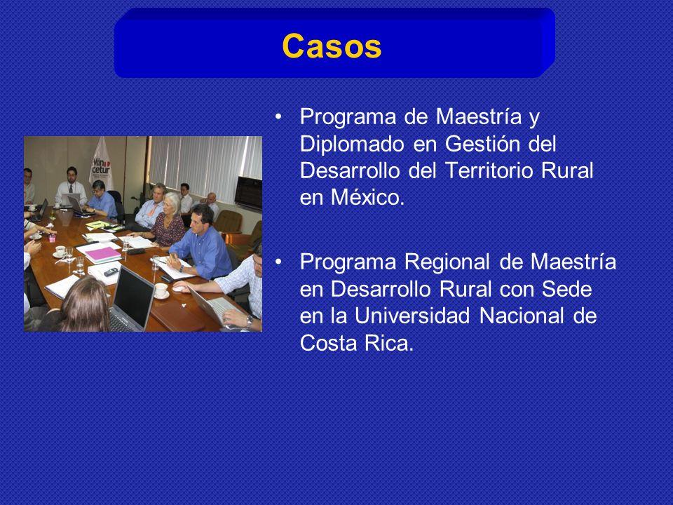 Casos Programa de Maestría y Diplomado en Gestión del Desarrollo del Territorio Rural en México.