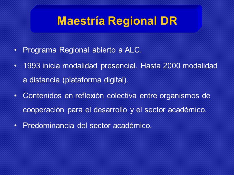 Maestría Regional DR Programa Regional abierto a ALC.
