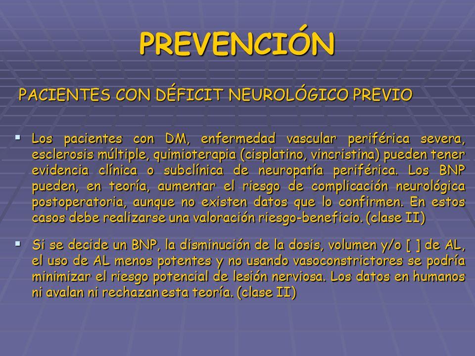 PREVENCIÓN PACIENTES CON DÉFICIT NEUROLÓGICO PREVIO PACIENTES CON DÉFICIT NEUROLÓGICO PREVIO Los pacientes con DM, enfermedad vascular periférica seve