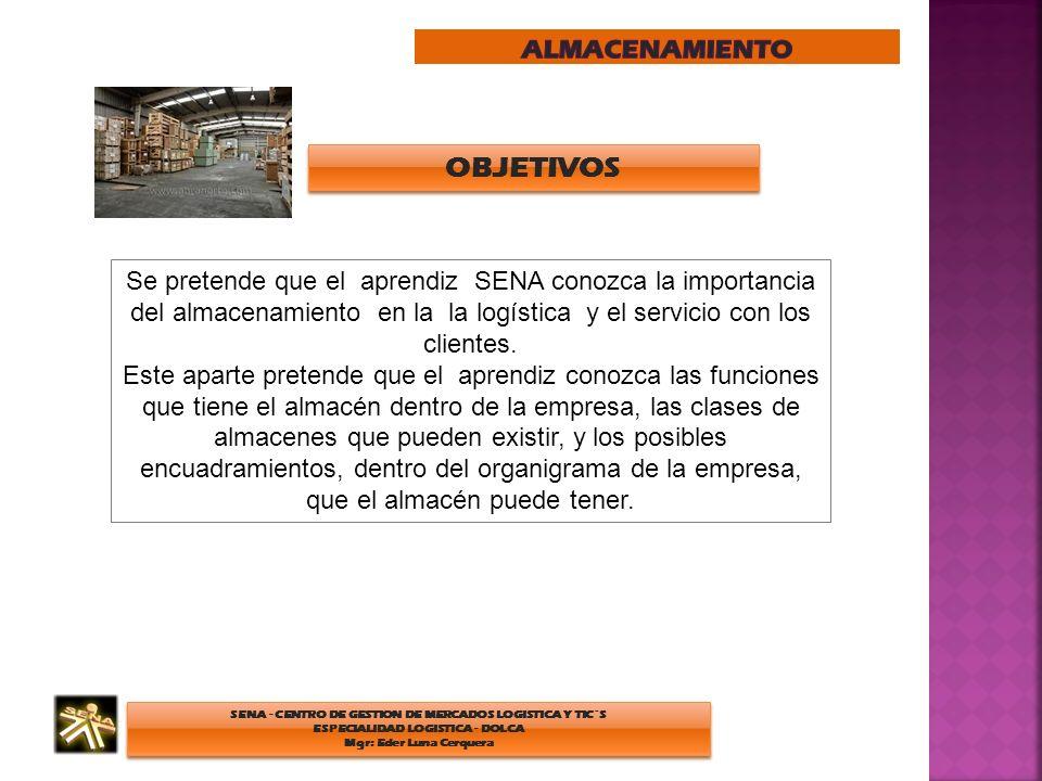 SENA - CENTRO DE GESTION DE MERCADOS LOGISTICA Y TIC´S ESPECIALIDAD LOGISTICA - DOLCA Mgr: Eder Luna Cerquera SENA - CENTRO DE GESTION DE MERCADOS LOG
