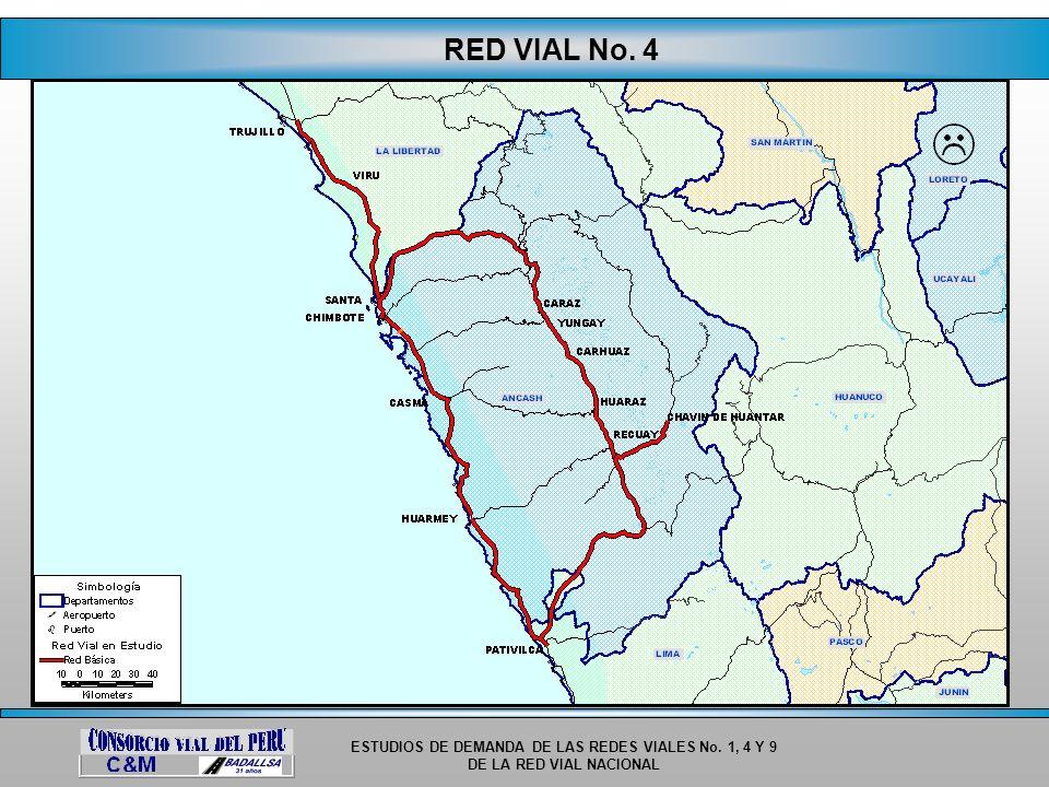 ESTUDIOS DE DEMANDA DE LAS REDES VIALES No. 1, 4 Y 9 DE LA RED VIAL NACIONAL RED VIAL No. 4