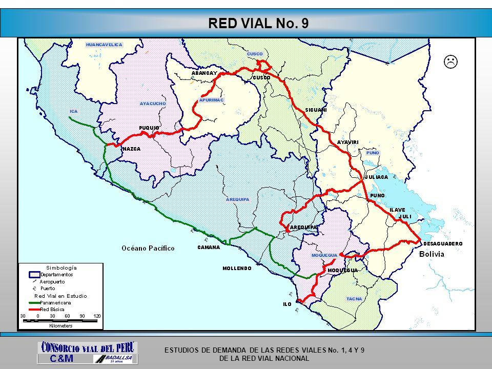 ESTUDIOS DE DEMANDA DE LAS REDES VIALES No. 1, 4 Y 9 DE LA RED VIAL NACIONAL RED VIAL No. 9