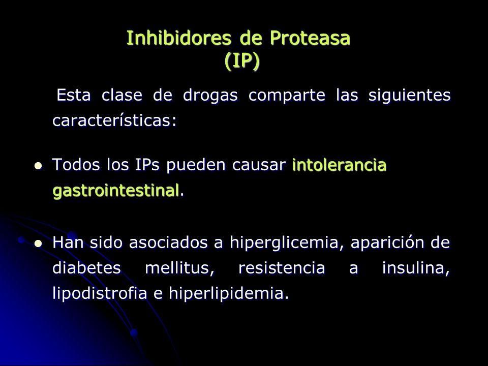 Esta clase de drogas comparte las siguientes características: Esta clase de drogas comparte las siguientes características: Todos los IPs pueden causa