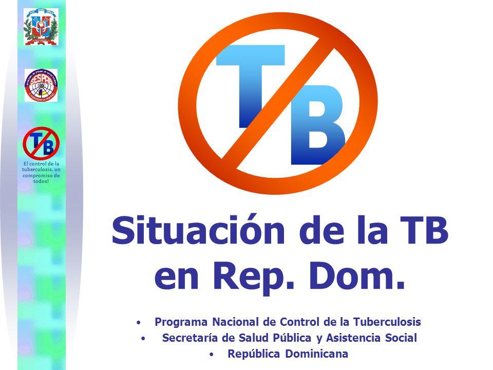 Fuente: Programa Nacional de Control de la Tuberculosis. SESPAS. República Dominicana. El control de la tuberculosis, un compromiso de todos! Situació
