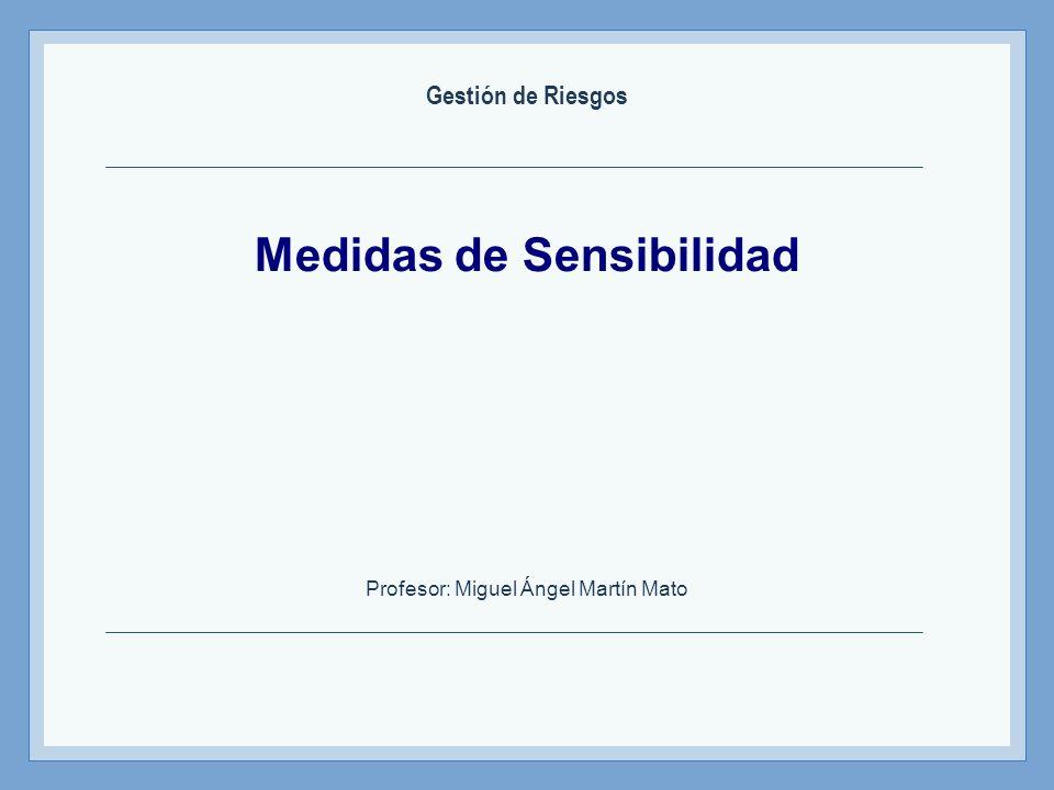 Medidas de Sensibilidad Profesor: Miguel Ángel Martín Mato Gestión de Riesgos