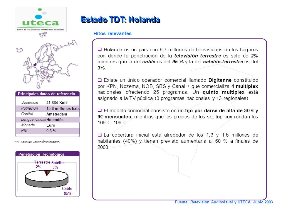 7 Estado TDT : Francia Superficie Población Capital Lengua Oficial Moneda PIB 550.000 Km2 60,4 millones hab. París Francés Euro 1,2 % Principales dato