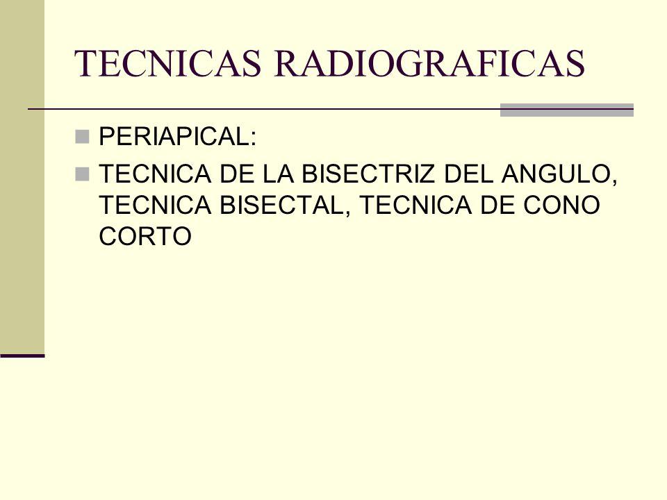 TECNICAS RADIOGRAFICAS PERIAPICAL PARALELISMO ALETA DE MORDIDA O BITE WING DE DESLIZAMIENTO (regla de Clark)