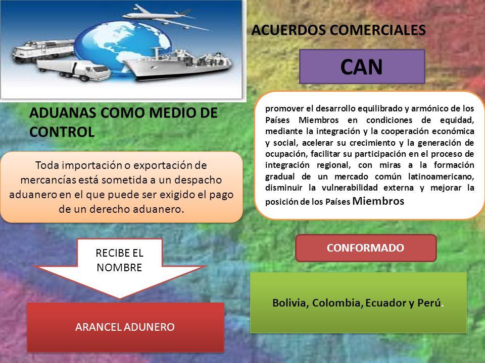 ADUANAS COMO MEDIO DE CONTROL ACUERDOS COMERCIALES Toda importación o exportación de mercancías está sometida a un despacho aduanero en el que puede s