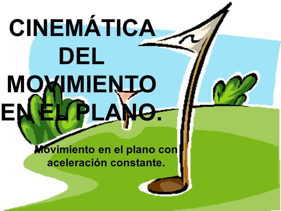 CINEMÁTICA DEL MOVIMIENTO EN EL PLANO. Movimiento en el plano con aceleración constante.