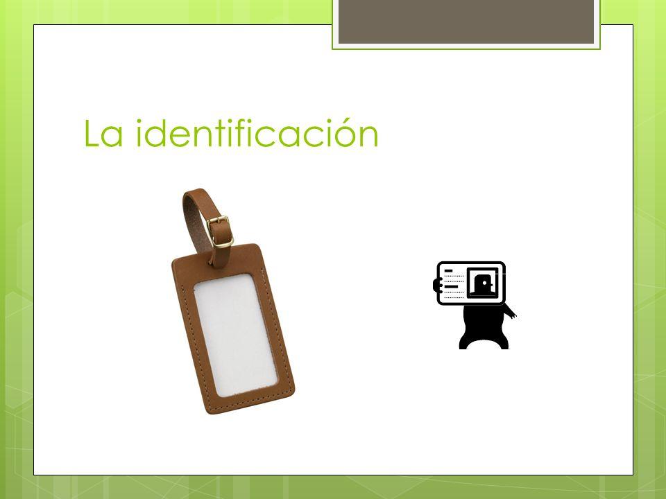 La identificación