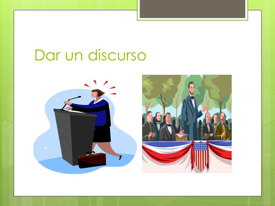 Dar un discurso