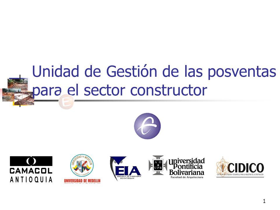 1 Unidad de Gestión de las posventas para el sector constructor