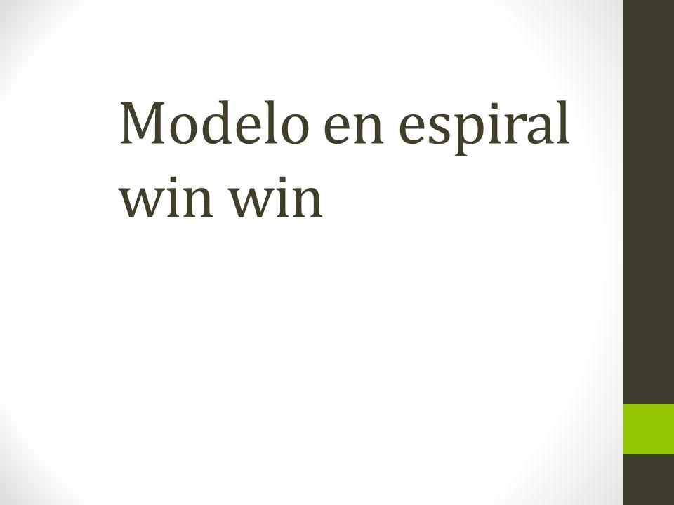 Modelo en espiral win win