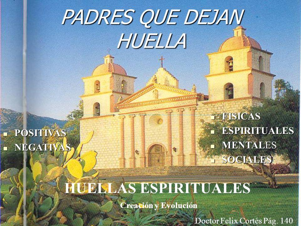 HUELLAS ESPIRITUALES PADRES QUE DEJAN HUELLA POSITIVAS POSITIVAS NEGATIVAS NEGATIVAS FISICAS FISICAS ESPIRITUALES ESPIRITUALES MENTALES MENTALES SOCIA