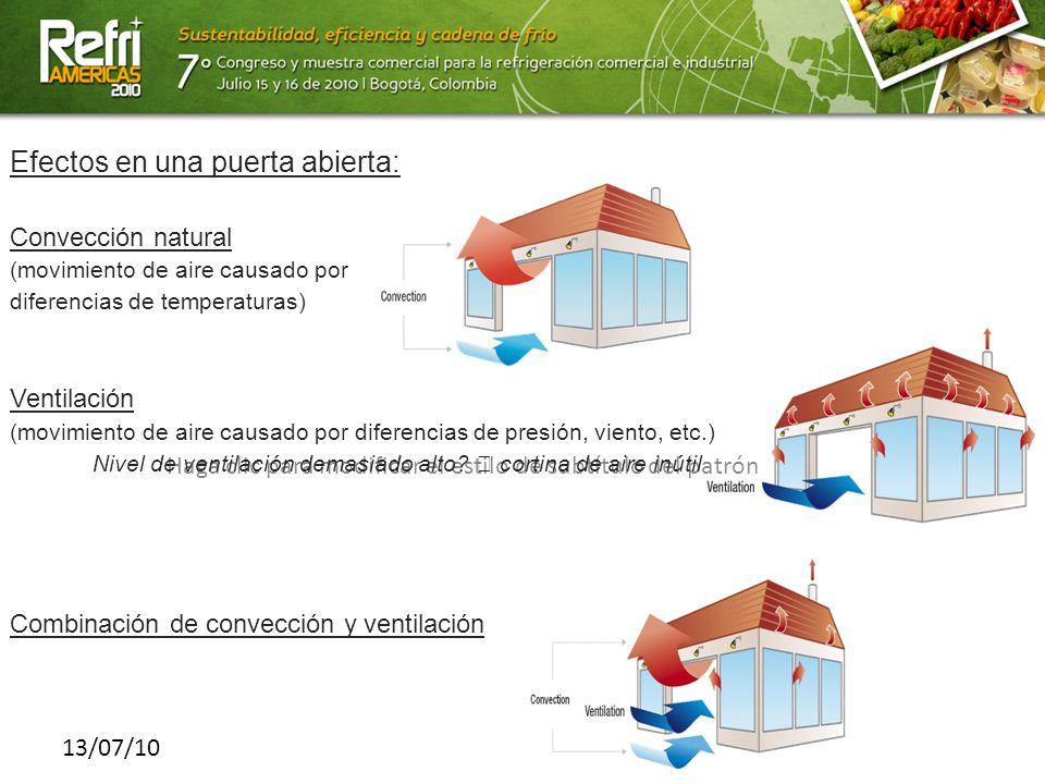 Haga clic para modificar el estilo de subtítulo del patrón 13/07/10 Efectos en una puerta abierta: Convección natural (movimiento de aire causado por