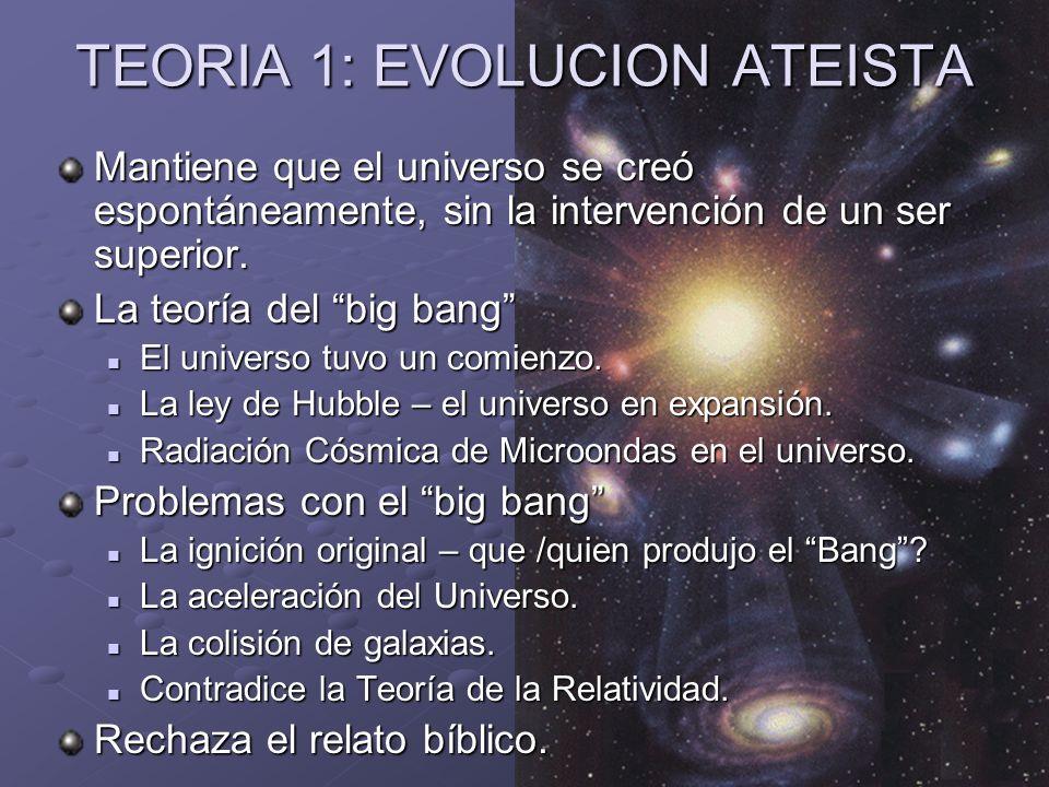Ministerios EN PROFUNDIDAD 2008 Una vez con la Tierra en existencia, mantiene que la vida se desarrolló espontáneamente sin la intervención de un creador.