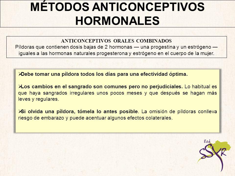 MÉTODOS ANTICONCEPTIVOS HORMONALES ¿POR QUÉ GUSTAN.