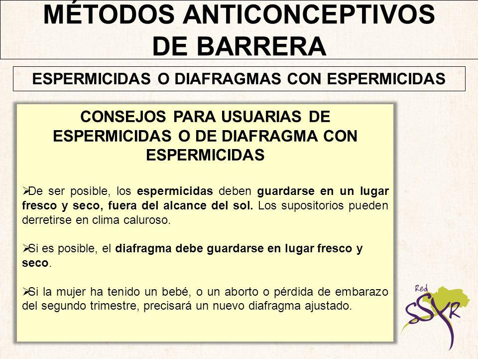MÉTODOS ANTICONCEPTIVOS DE BARRERA El capuchón cervical se coloca profundamente en la vagina antes del sexo.