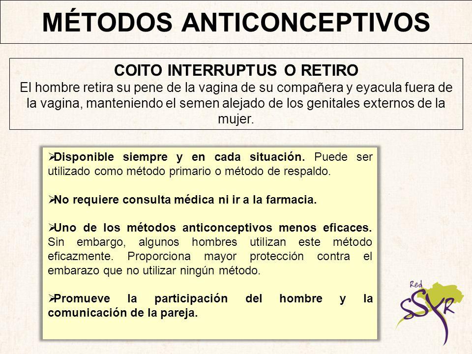 MÉTODOS ANTICONCEPTIVOS Un método de planificación familiar basado en la lactancia.