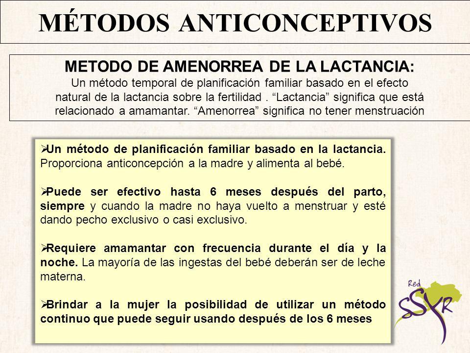 MÉTODOS ANTICONCEPTIVOS DEBEN CUMPLIR TRES CONDICIONES: 1.