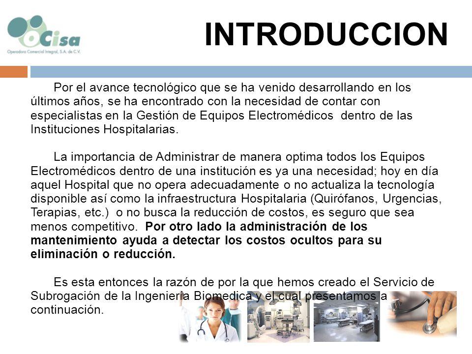 Optimizar el Uso de los Equipos Electro médicos Dentro de la Institución Hospitalaria.