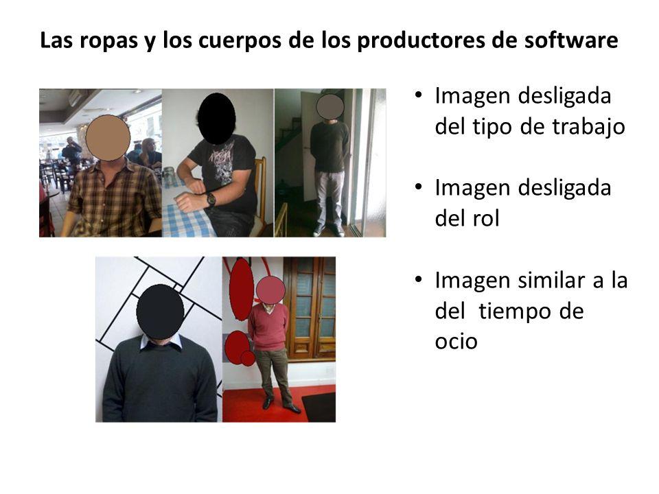 Las ropas y los cuerpos de los productores de software Imagen desligada del tipo de trabajo Imagen desligada del rol Imagen similar a la del tiempo de