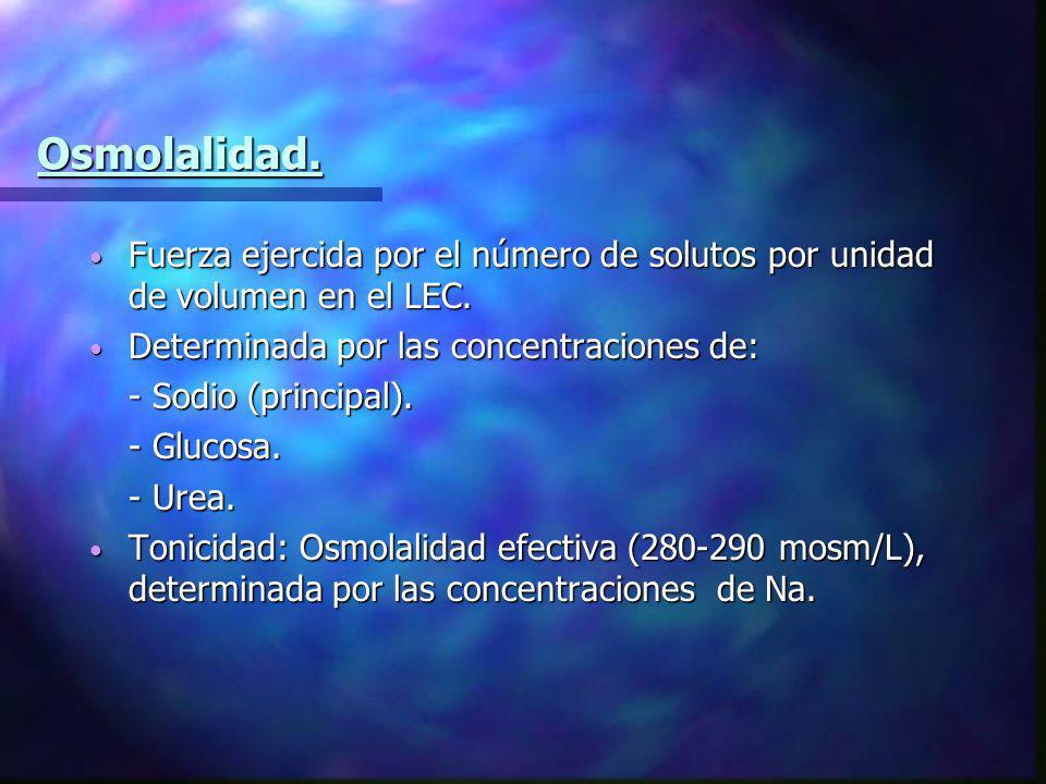 Generalidades de los fluidos.1. Requerimientos diarios de: - Agua: 30 a 35 ml/Kg (2000-2500 cc).