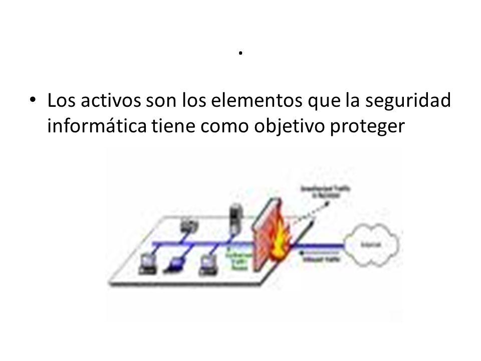 . Los activos son los elementos que la seguridad informática tiene como objetivo proteger