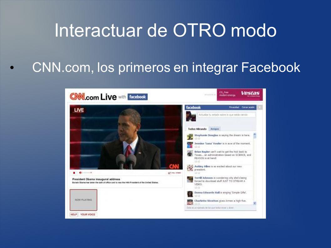 Interactuar de OTRO modo CNN.com, los primeros en integrar Facebook