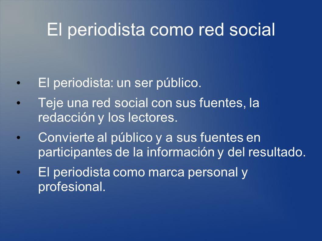 El periodista como red social El periodista: un ser público.