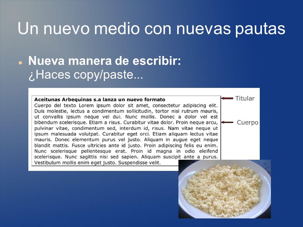 Nueva manera de escribir: ¿Haces copy/paste...