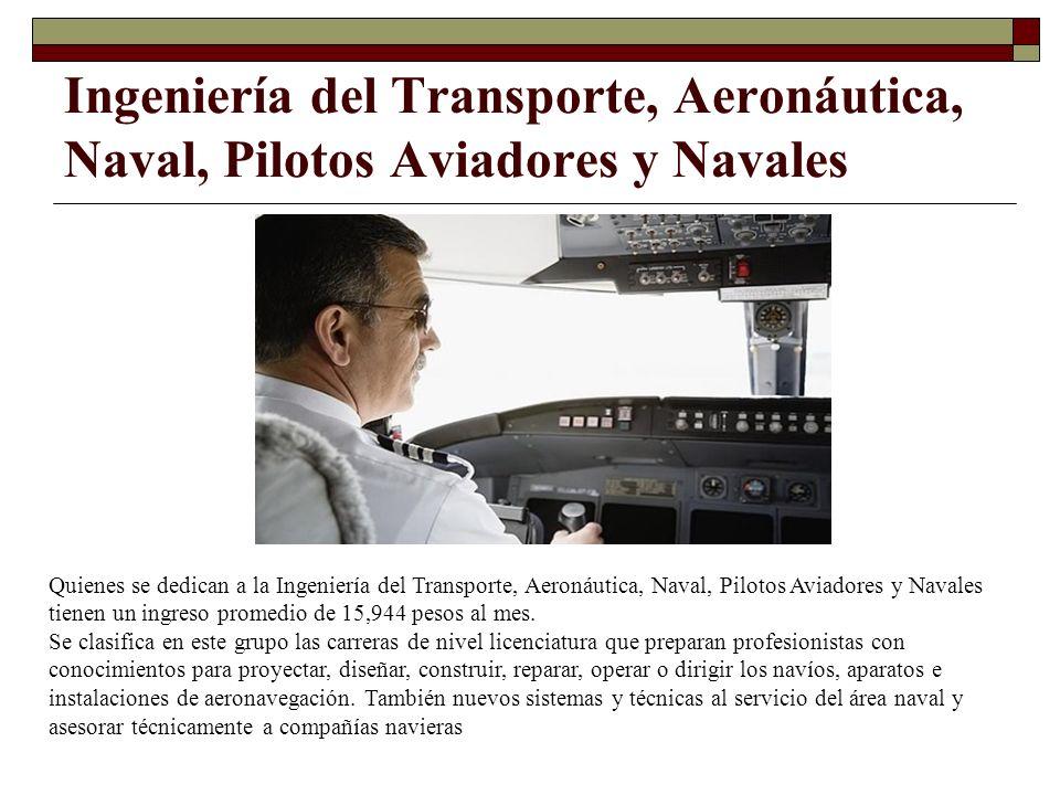 Ingeniería del Transporte, Aeronáutica, Naval, Pilotos Aviadores y Navales Quienes se dedican a la Ingeniería del Transporte, Aeronáutica, Naval, Pilo