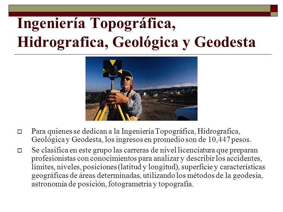 Ingeniería Topográfica, Hidrografica, Geológica y Geodesta Para quienes se dedican a la Ingeniería Topográfica, Hidrografica, Geológica y Geodesta, lo