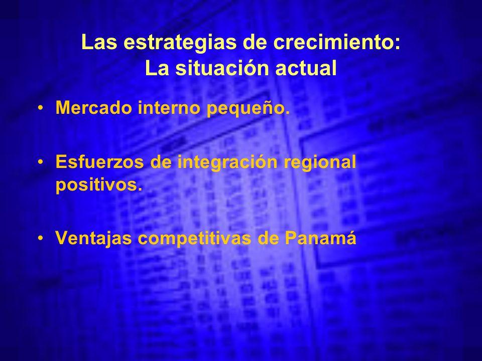 Las estrategias de crecimiento: La situación actual Mercado interno pequeño.